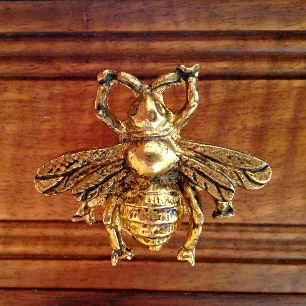 Bronze bee detail