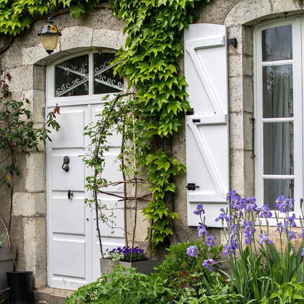 Garden door to chambres d'hôtes