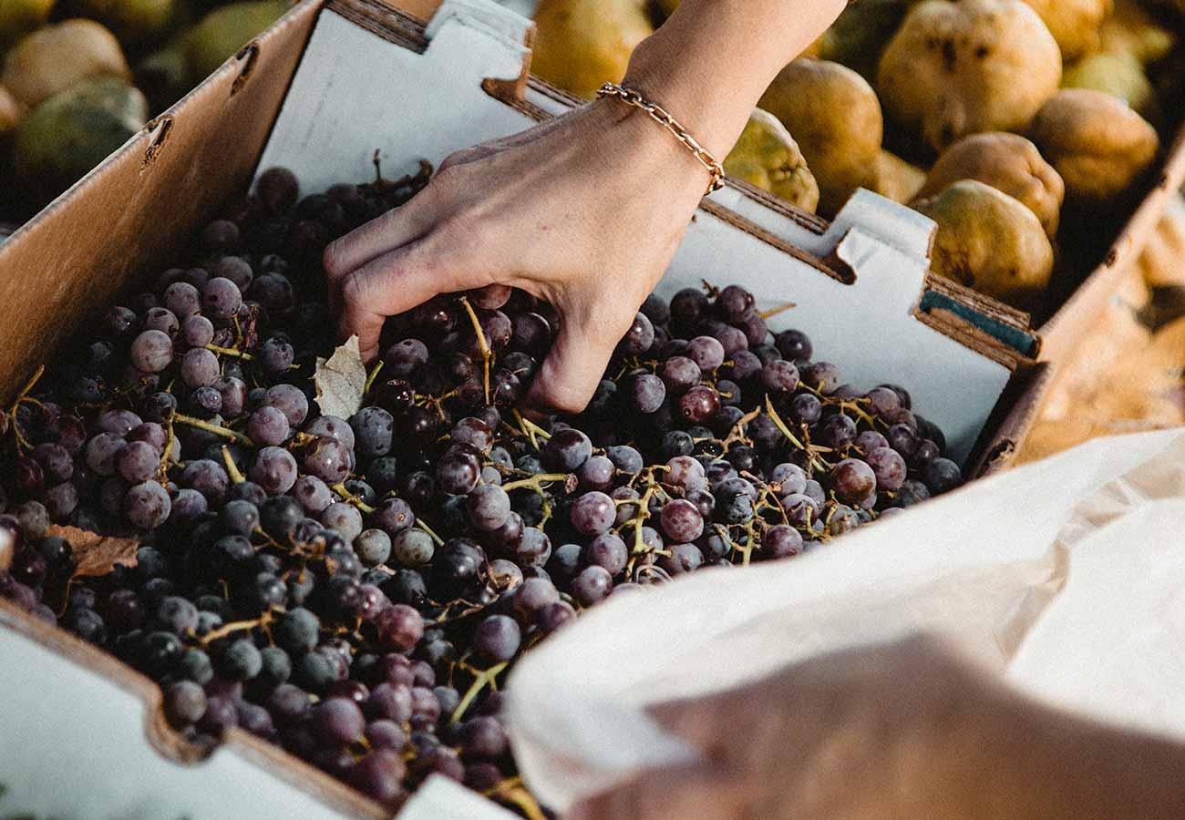 Grapes from the local market in Gannat