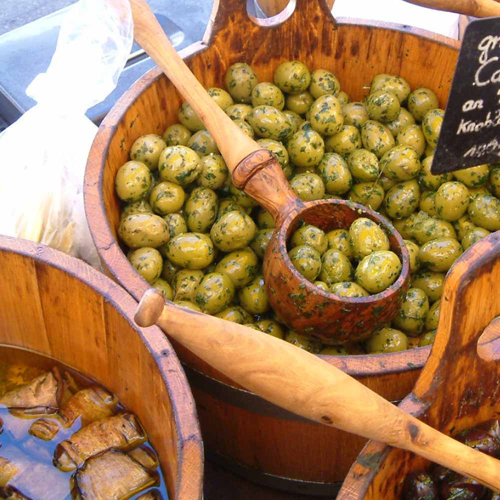 Fresh olives from the market