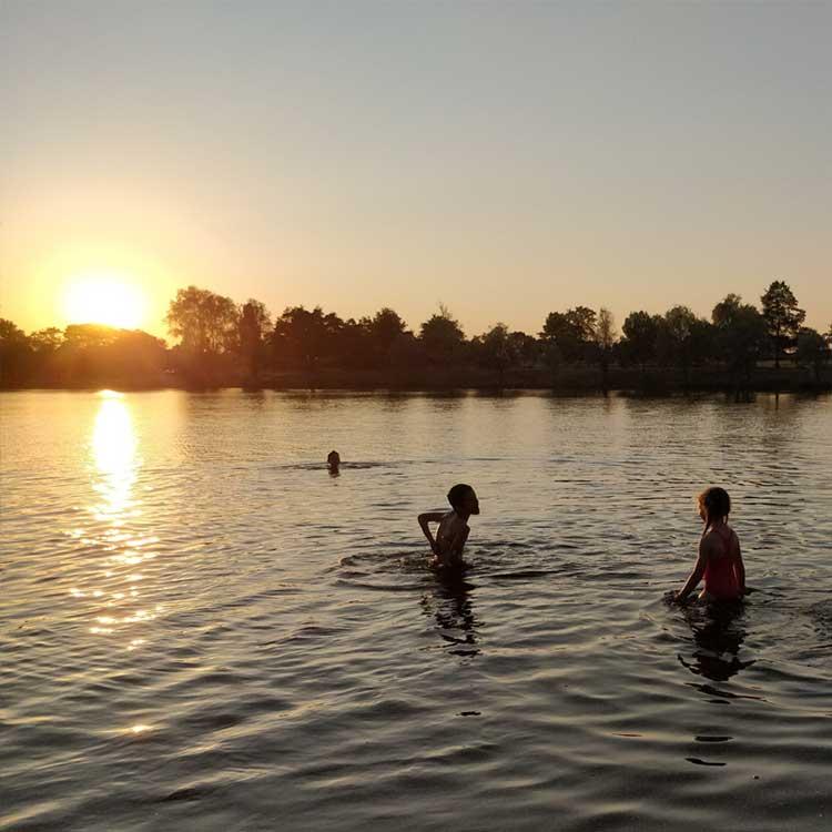 Swimming at Servant lake